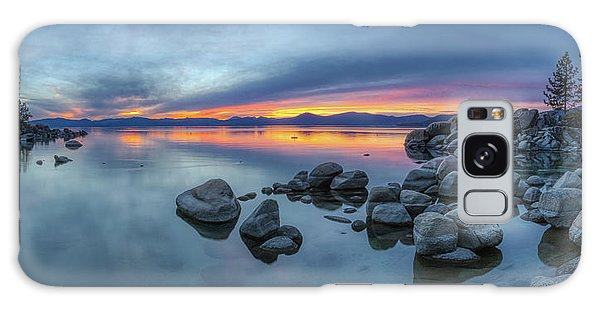 Colorful Sunset At Sand Harbor Panorama Galaxy Case