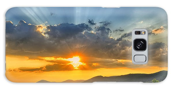 Scenery Galaxy Case - Colorful Sunset In The Summer by Mihai tamasila