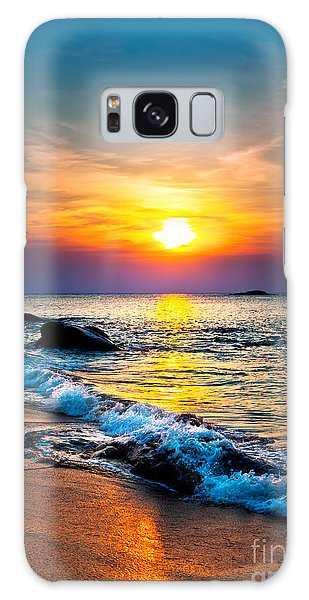 Dawn Galaxy Case - Colorful Sunset Over The Sea by Muzhik