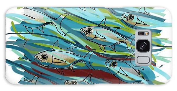 Galaxy Case - Coloured Water Fish - Digital Change 2 by Joan Stratton