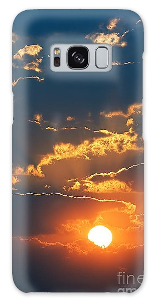 Dusk Galaxy Case - Colourful Sunrise Creating Golden Edges by Johan Swanepoel