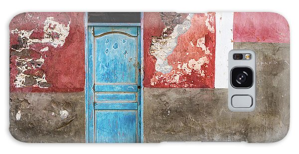 Colorful Wall With Blue Door Galaxy Case