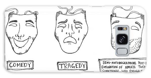 Comedy Tragedy Semi Autobiograpical Galaxy Case