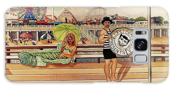 Coney Island Boardwalk Pillow Mural #4 Galaxy Case
