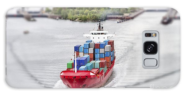 Shipping Galaxy Case - Container Vessel On Kiel Canal, Germany by Ralf Gosch