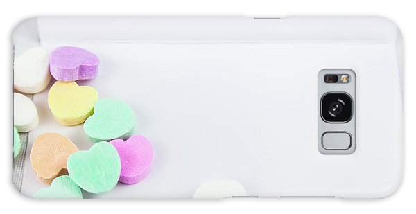 Conversation Hearts On A Notecard Galaxy Case