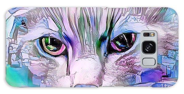 Cool Blue Cat Galaxy Case