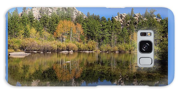 Galaxy Case featuring the photograph Cool Calm Rocky Mountains Autumn Reflections by James BO Insogna