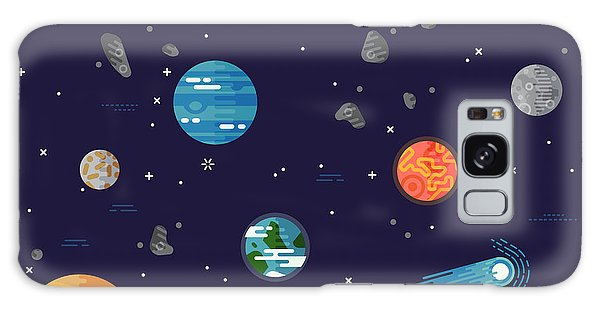 Jupiter Galaxy Case - Cool Galaxy Planets And Stars Space by Mascha Tace