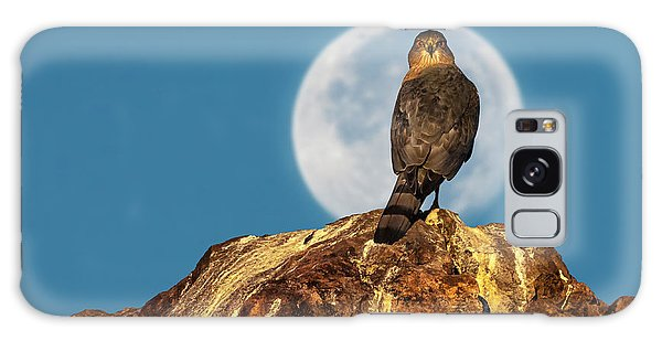 Coopers Hawk With Moon Galaxy Case