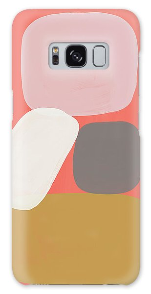 Galaxy Case featuring the mixed media Coral Stones 3- Art By Linda Woods by Linda Woods