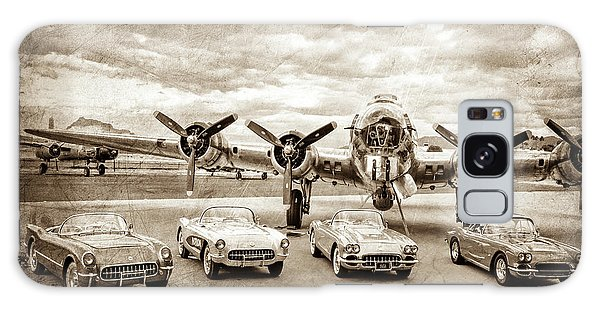 Bomber Galaxy Case - Corvettes And B17 Bomber -0027cl2 by Jill Reger