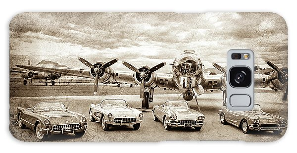 Bomber Galaxy Case - Corvettes And B17 Bomber -0027s by Jill Reger