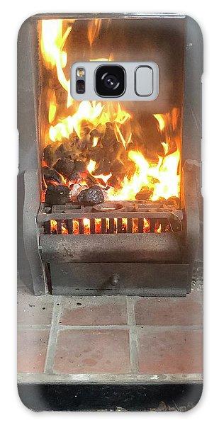 Cosy Winter Fire Galaxy Case