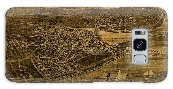 Cottage Galaxy Case - Cottage City Marthas Vineyard Vintage Map 1890 by Design Turnpike