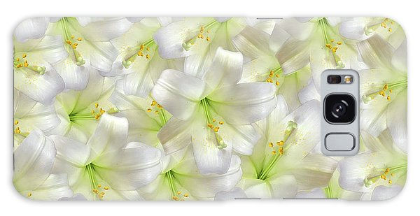 Galaxy Case featuring the photograph Cotton Seed Lilies by Rockin Docks