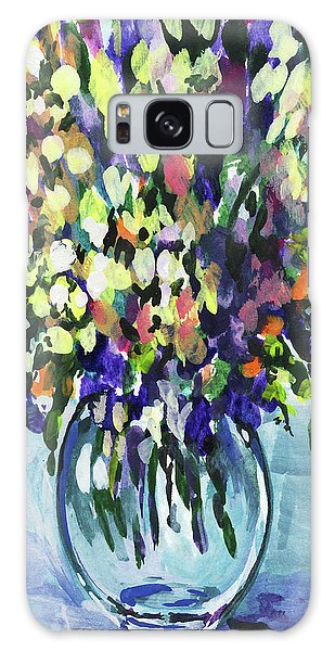 Country Living Galaxy Case - Country Flowers Bouquet Floral Impressionism  by Irina Sztukowski