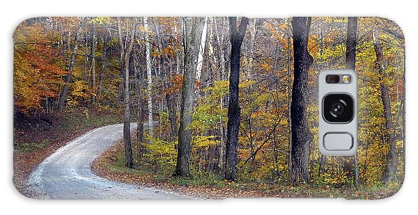Galaxy Case featuring the photograph Country Road On Fall Day by Mike Murdock