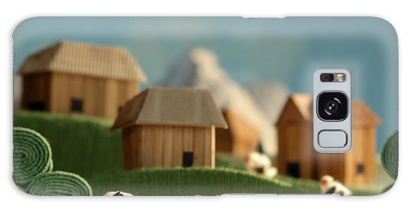 Pasture Galaxy Case - Countryside With Farms, Meadows, Cows by Kreus