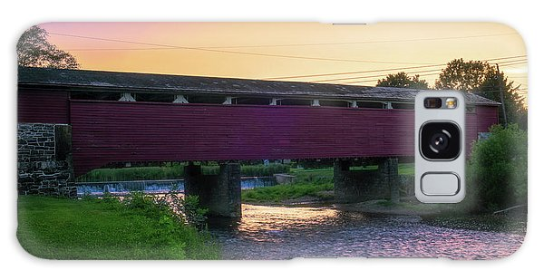 Covered Bridge Sunset Galaxy Case