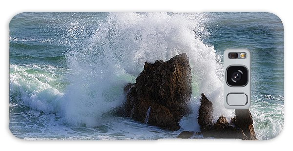 Sea Stacks Galaxy Case - Crashing Waves by Larry Marshall