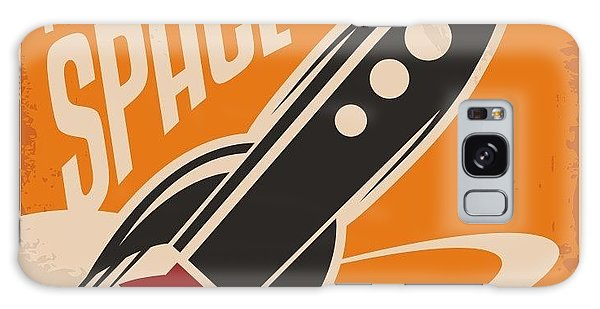 1950s Galaxy Case - Creative Design Concept With Rocket And by Lukeruk