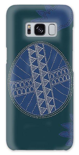Galaxy Case featuring the digital art Crocodile Egg by Attila Meszlenyi