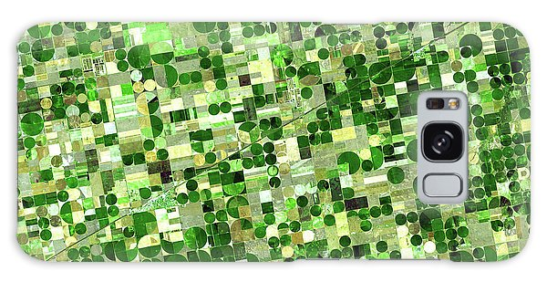 Earth From Space Galaxy Case - Crop Circles In Kansas by Delphimages Photo Creations