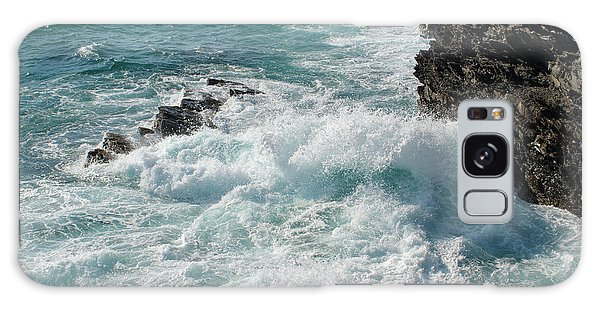 Crushing Waves In Porto Covo Galaxy Case