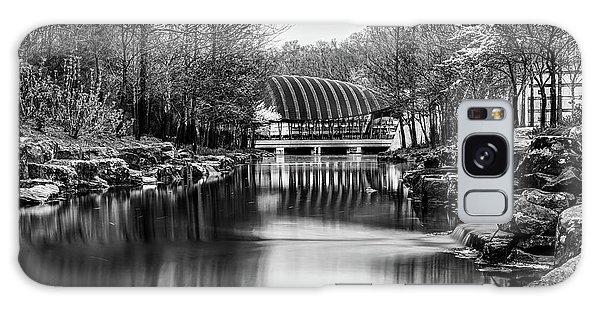 Crystal Bridges Museum River Trail - Monochrome 1x1  Galaxy Case