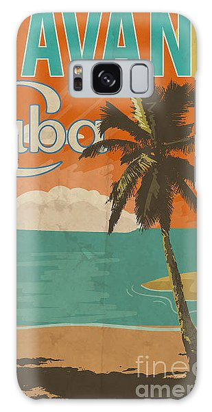 1950s Galaxy Case - Cuba Havana Poster Illustration by Yusuf Doganay