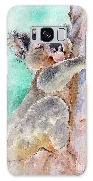 Cuddly Koala Watercolor Painting Galaxy Case