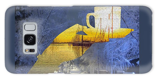 Cup Of Tea In The Winter Evening Galaxy Case