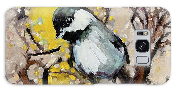 Chickadee Galaxy S8 Case - Curiouser And Curiouser by Mark Daniels