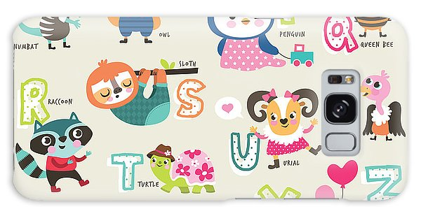 Turtle Galaxy Case - Cute Cartoon Animals Alphabet From N To by Littlewhale