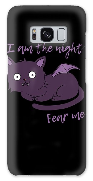 Cute Halloween Cat I Am The Night Fear Me Galaxy Case