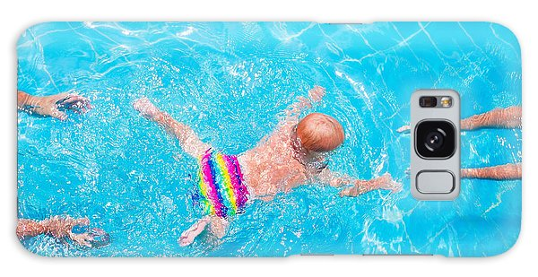 Active Galaxy Case - Cute Little Baby Swimming Underwater by Famveld