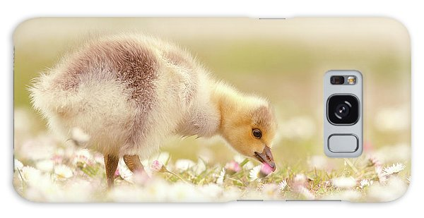 Gosling Galaxy Case - Cute Overload Series - Grazing Gosling by Roeselien Raimond