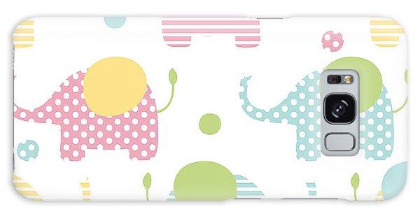 School Galaxy Case - Cute Seamless Pattern With Elephants In by Martynmarin