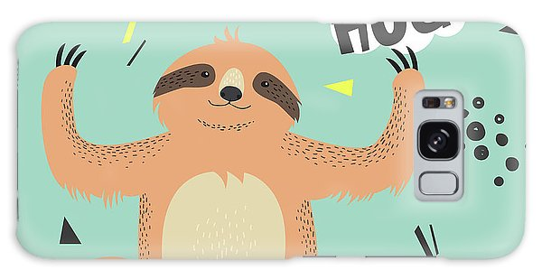 Card Galaxy S8 Case - Cute  Sloth Vector Illustration. Lets by Maria Sem