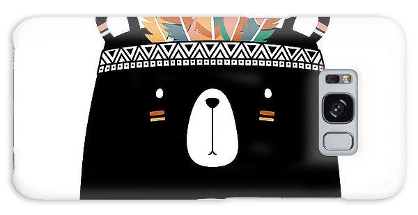 Cute Tribal Bear - Boho Chic Ethnic Nursery Art Poster Print Galaxy Case