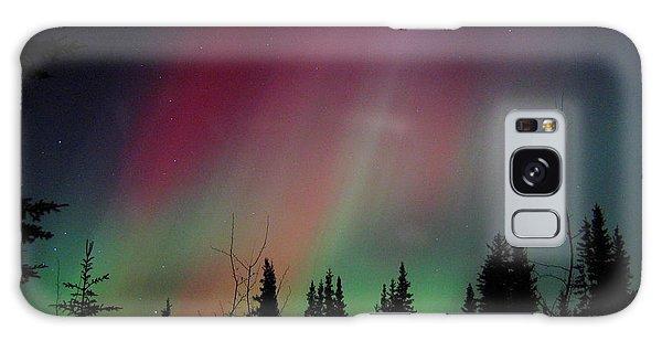 Center Galaxy Case - D. Aurora Borealis Alaska Red Skies by Pinky