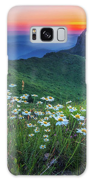 Daisies In The Mountain Galaxy Case