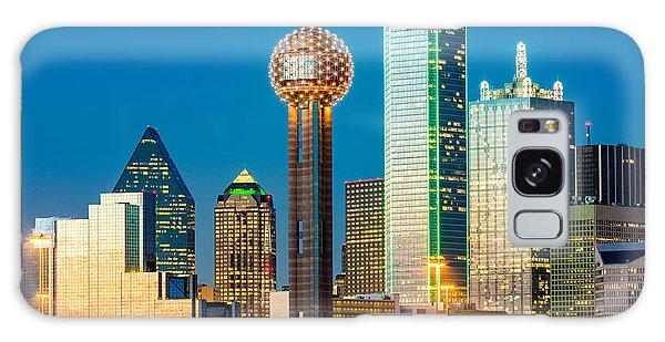 Texas Galaxy Case - Dallas Skyline At Sunset by Mandritoiu