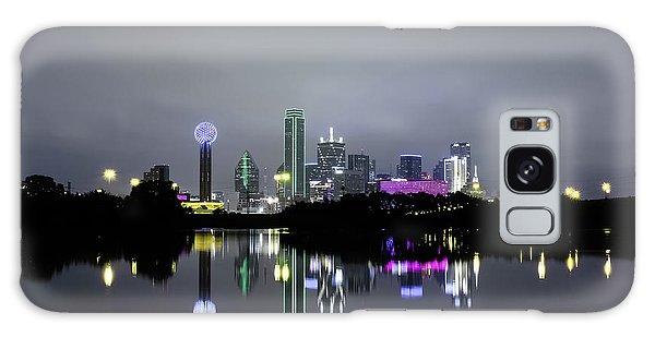 Dallas Texas Cityscape River Reflection Galaxy Case