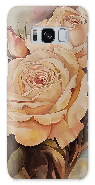 Damask Roses Galaxy Case
