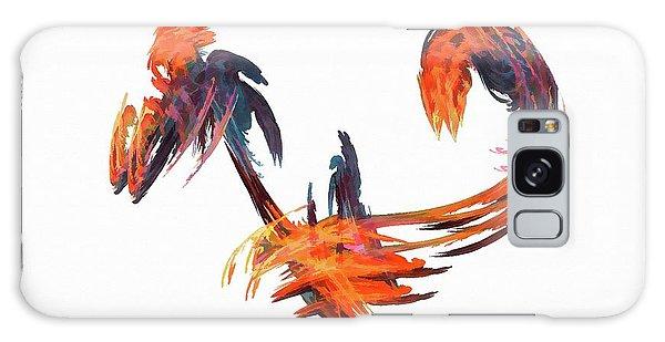 Dance Of The Birds Orange Galaxy Case
