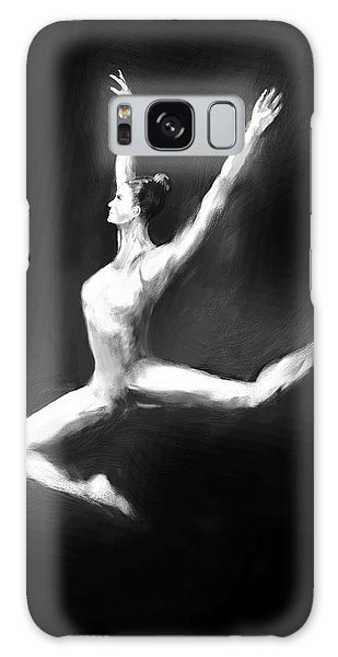 Galaxy Case - Dancer In Black And White by Digital Painting