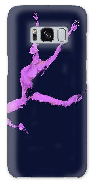 Galaxy Case - Dancer In The Dark Blue by Digital Painting