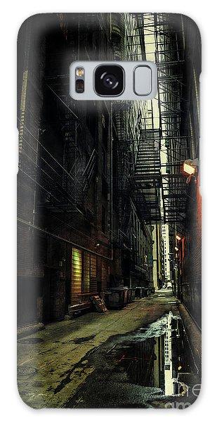 Brick House Galaxy Case - Dark Chicago Alley by Bruno Passigatti